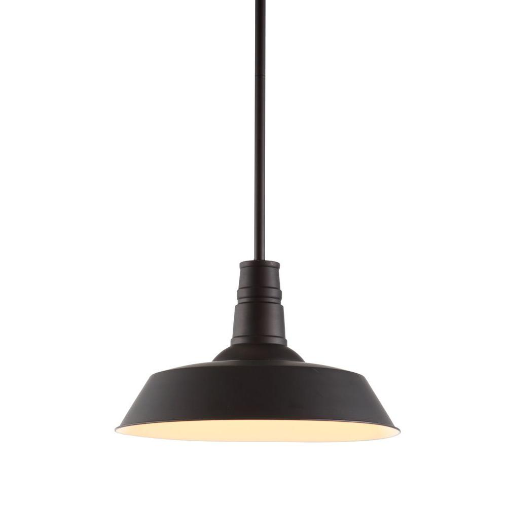 ZUO Tin 1-Light Rust Ceiling Pendant-98245 - The Home Depot