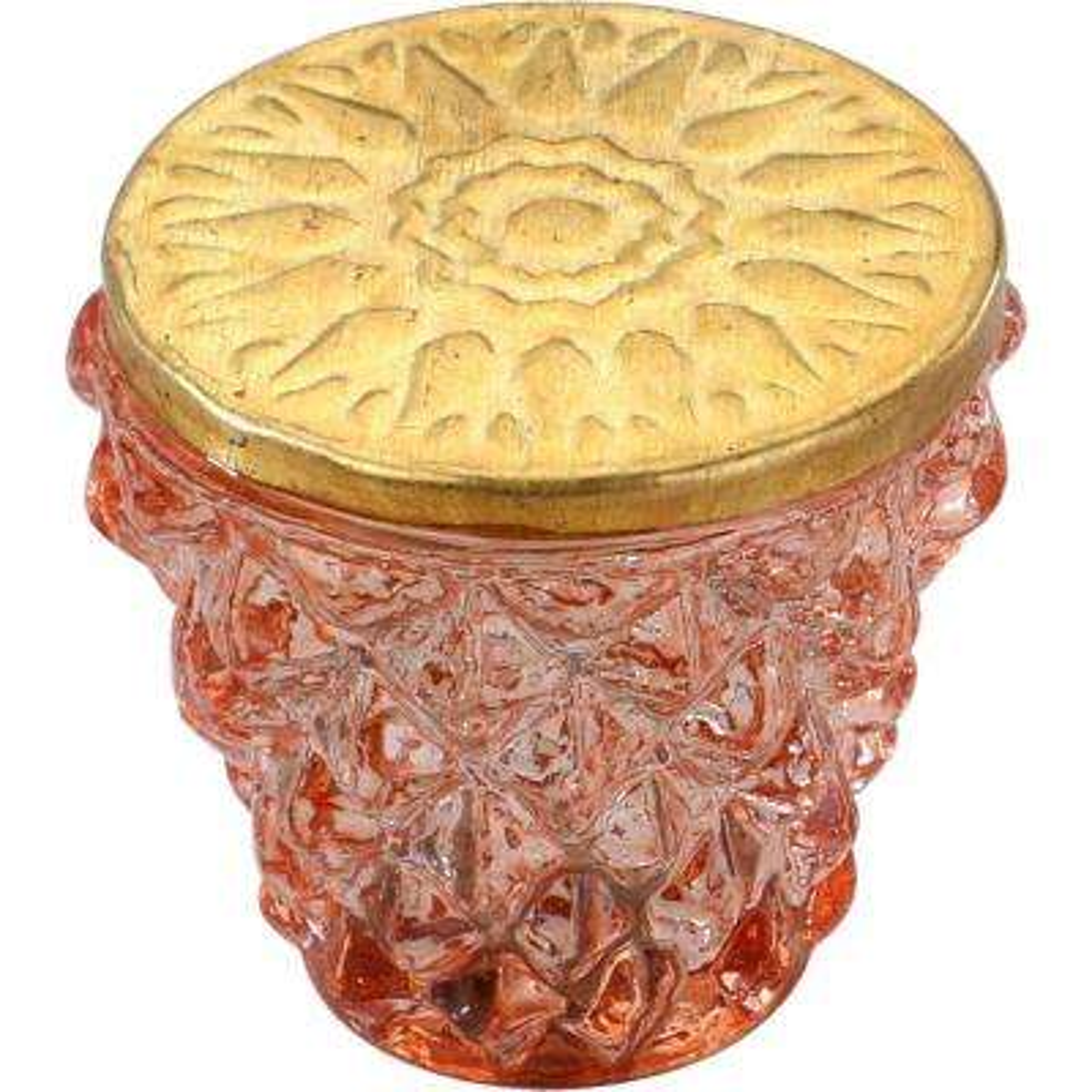 Diamond Cut 1-1/2 in. Terracotta Golden Head Cabinet Knob