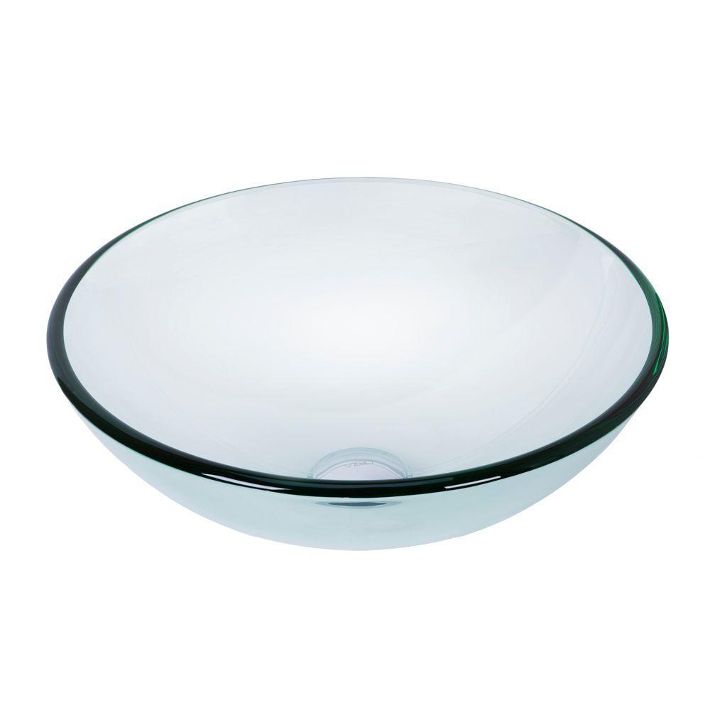 Glass Vessel Sink in Crystalline Glass