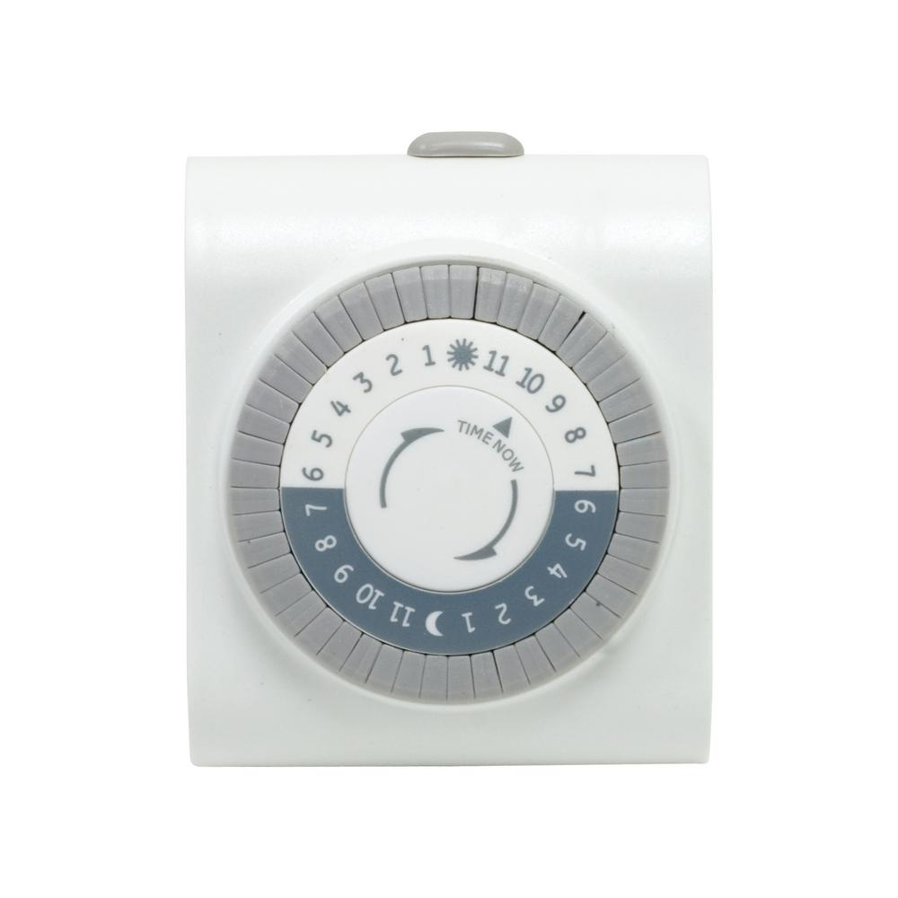 Mechanical Indoor Plug-In Big Button Timer