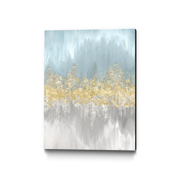 Clicart 24 In X 36 In Neutral Wave Lengths Ii By Eva Watts Wall Art Piew078 2436mm The Home Depot