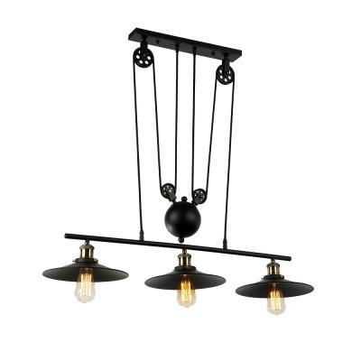 Chorne 3-Light Black Chandelier with Shade