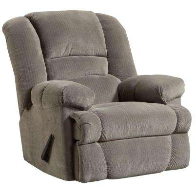 Contemporary Dynasty Smoke Microfiber Rocker Recliner