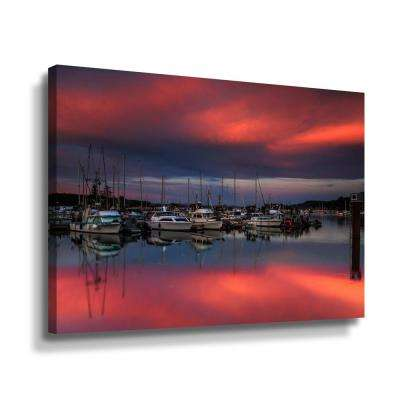 Ganges harbor sunset' by Shawn & Corinne severn Canvas Wall Art