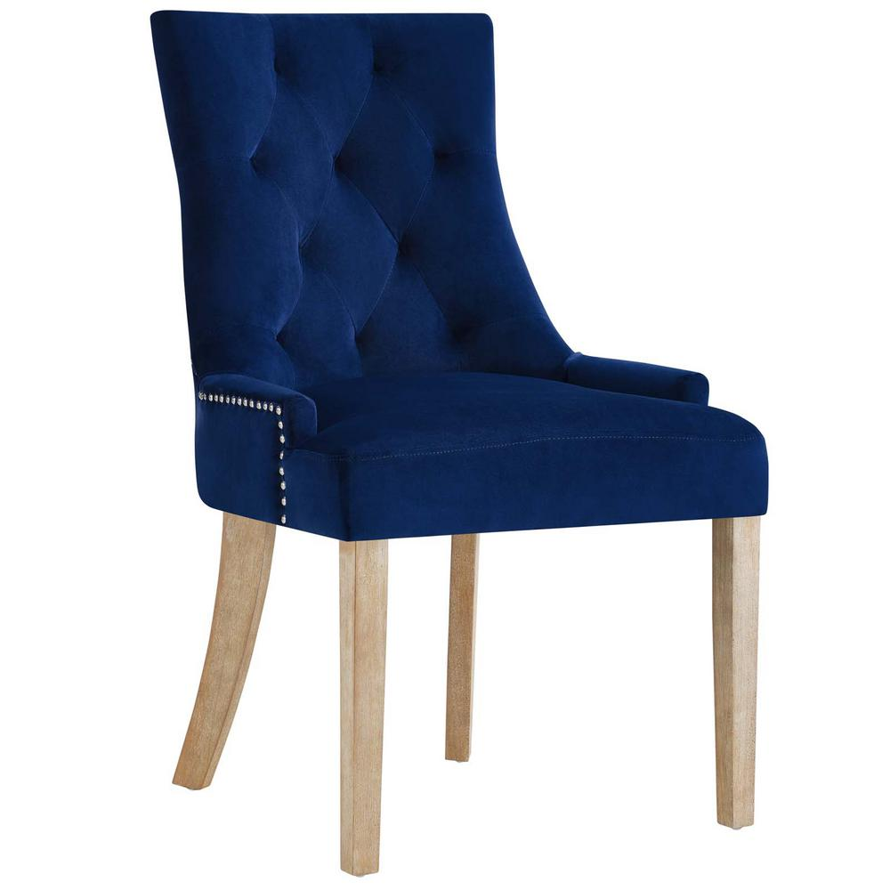 Modway Pose Navy Upholstered Fabric Dining Chair
