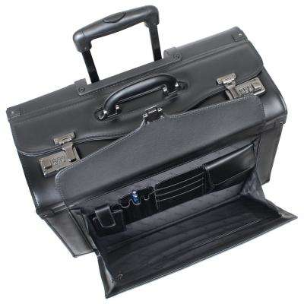 19 in. Black Wheeled Catalog Case