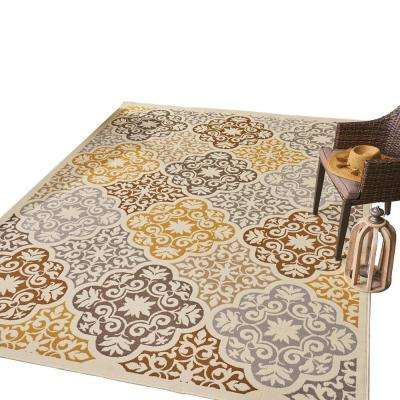Winnett Multi-Colored 8 ft. x 11 ft. Ornate Floral Indoor/Outdoor Area Rug