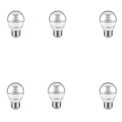60-Watt Equivalent Clear Warm White G16 Dimmable LED Light Bulb (6-Pack)