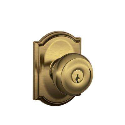Antique Brass Door Knobs Door Hardware The Home Depot