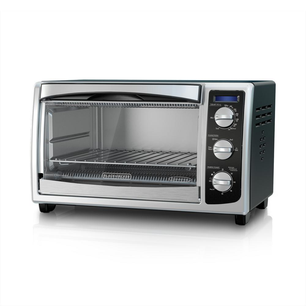 BLACK+DECKER 6-Slice Stainless Steel Toaster Oven-TO1675B ...