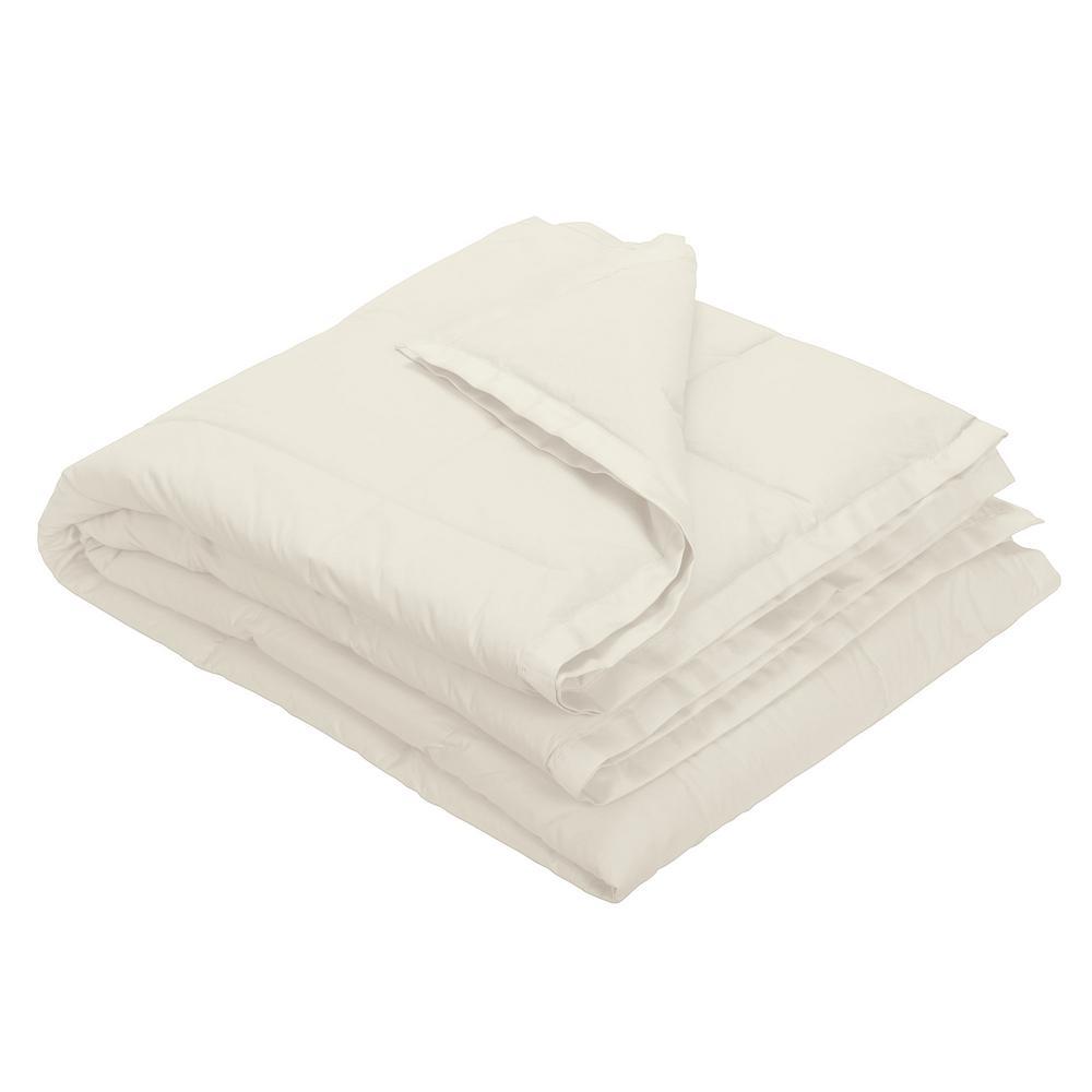 LaCrosse Down Ivory Cotton Twin Blanket