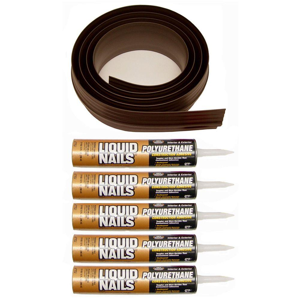 Tsunami Seal 50 ft. Brown Garage Door Threshold Kit