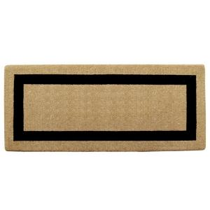 Single Picture Frame Black 24 in. x 57 in. Heavy Duty Coir Door Mat