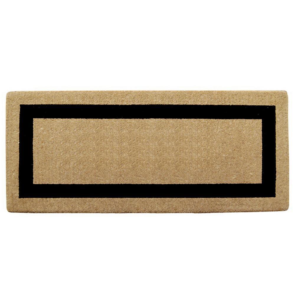 Single Picture Frame Black 24 in. x 57 in. Heavy Duty Coir Door Mat