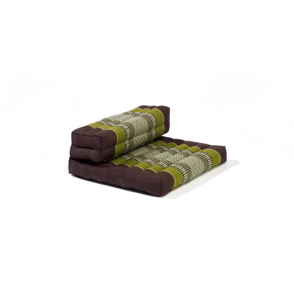 Sage and Brown Dhyana Floor Living and Meditation Cushion