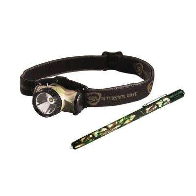 Camo Enduro Head Lamp with White Light Plus Camo Stylus with Green Light