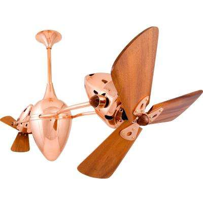 Ar Ruthiane 48 in. Indoor/Outdoor Polished Copper Ceiling Fan with Wall Control