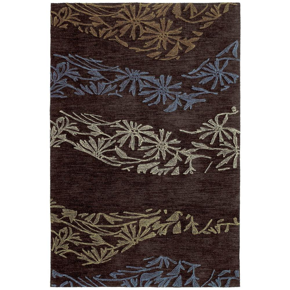 kaleen inspire accolade chocolate 9 ft x 12 ft area rug 6401 40 9 x 12 the home depot. Black Bedroom Furniture Sets. Home Design Ideas