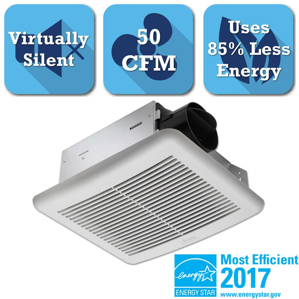 Delta Breez Slim Series 50 Cfm Wall Or Ceiling Exhaust