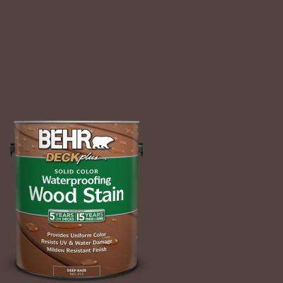1 gal. #PFC-25 Dark Walnut Solid Color Waterproofing Exterior Wood Stain