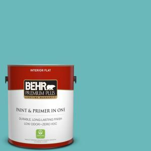1 gal. #510D-5 Surfer Flat Zero VOC Interior Paint and Primer in One