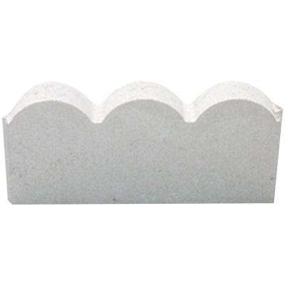 12 in. x 2 in. x 5.25 in. Straight Scallop White Concrete Edging (224-Pieces/224 sq. ft./Pallet)