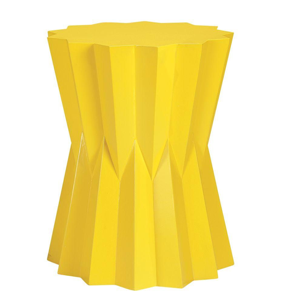 Home Decorators Collection Lavello Yellow Accent Table