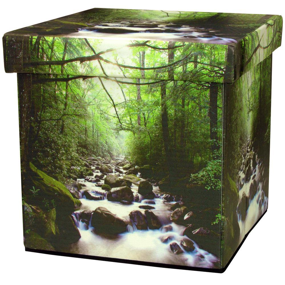 Oriental Furniture Green Trunk CAN-BOX-PATH-A