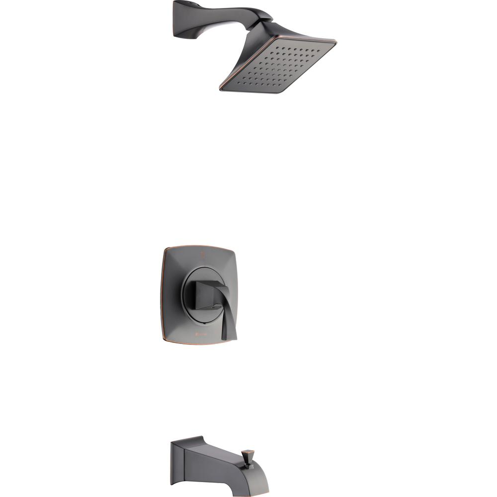 Glacier Bay Leary Curve Single-Handle 1-Spray Tub and Shower Faucet in Bronze (Valve Included)