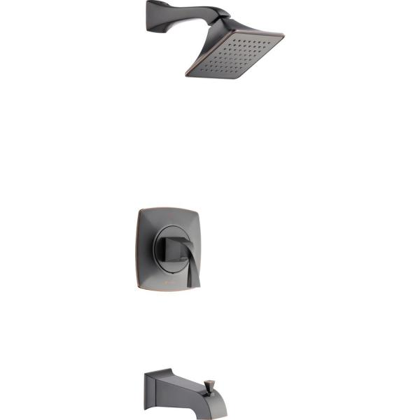 Leary Curve Single-Handle 1-Spray Tub and Shower Faucet in Bronze (Valve Included)
