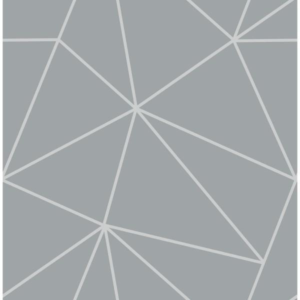 Fine Decor 56.4 sq. ft. Arken Silver Geometric Wallpaper 2900-41987
