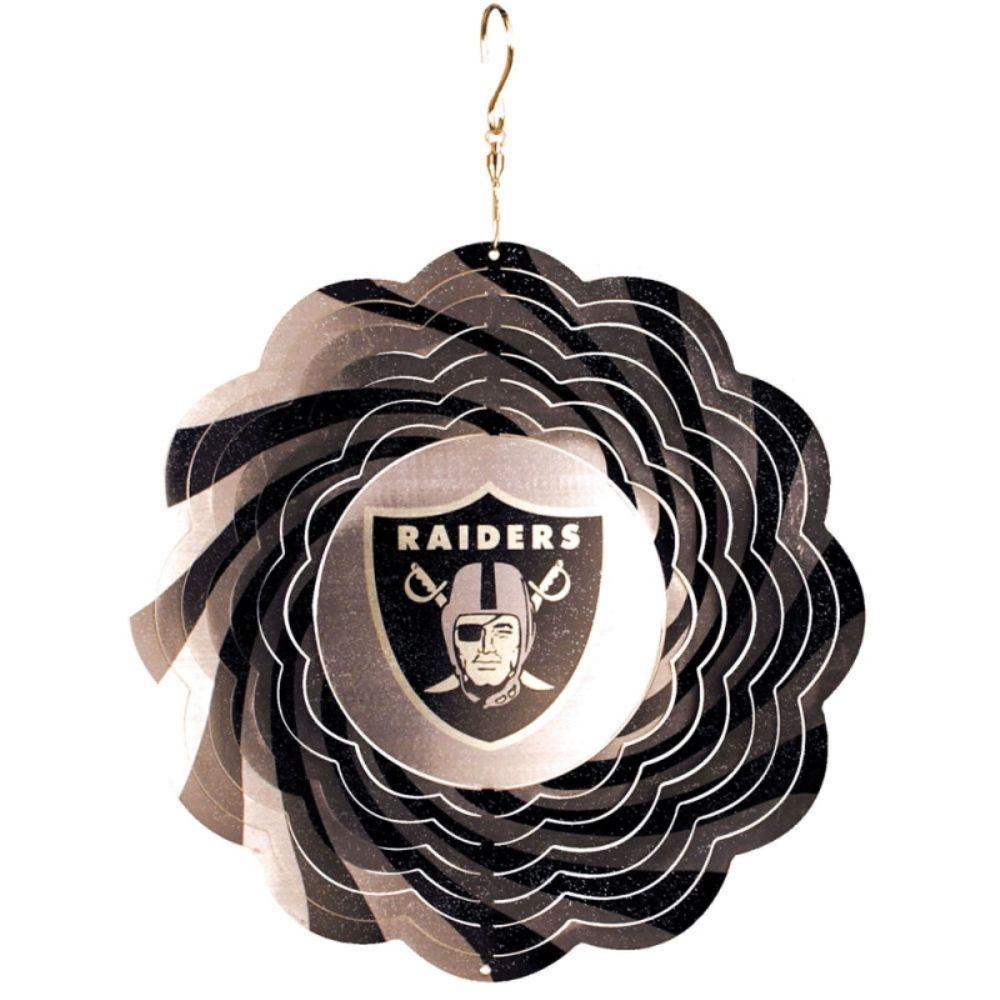 Evergreen NFL 10 in. Oakland Raiders Geo Spinner
