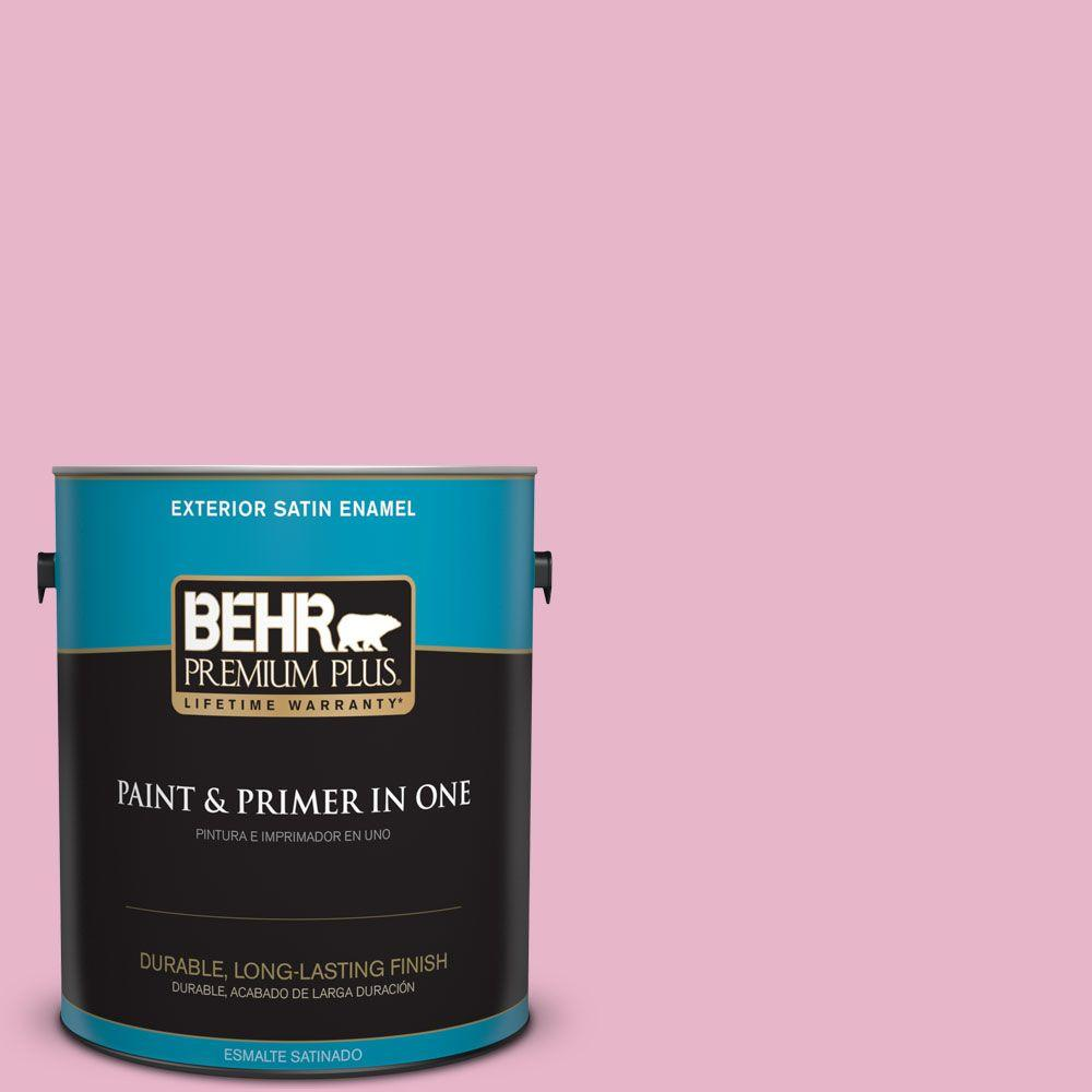 1 gal. #HDC-SP16-10 Japanese Rose Garden Satin Enamel Exterior Paint