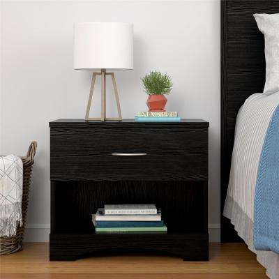 Crescent Point Black Nightstand