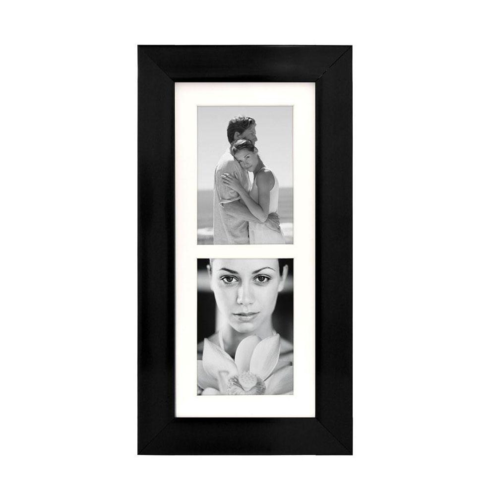 Home Decorators Collection 20 in. H Manhattan Black 2-Opening Collage Picture Frame
