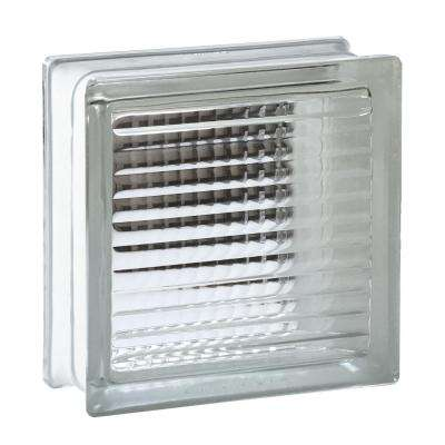 7.75 in. x 7.75 in. x 3.875 in. Cross Ribbed Pattern Glass Block (8-Pack)
