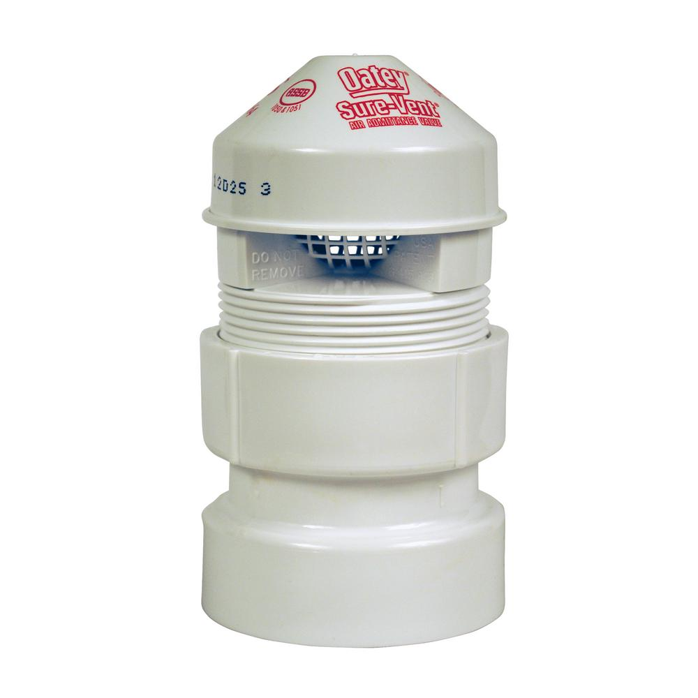 Sure-Vent 1-1/2 in. x 2 in. PVC Air Admittance Valve - 160 DFU Branch, 24 DFU Stack