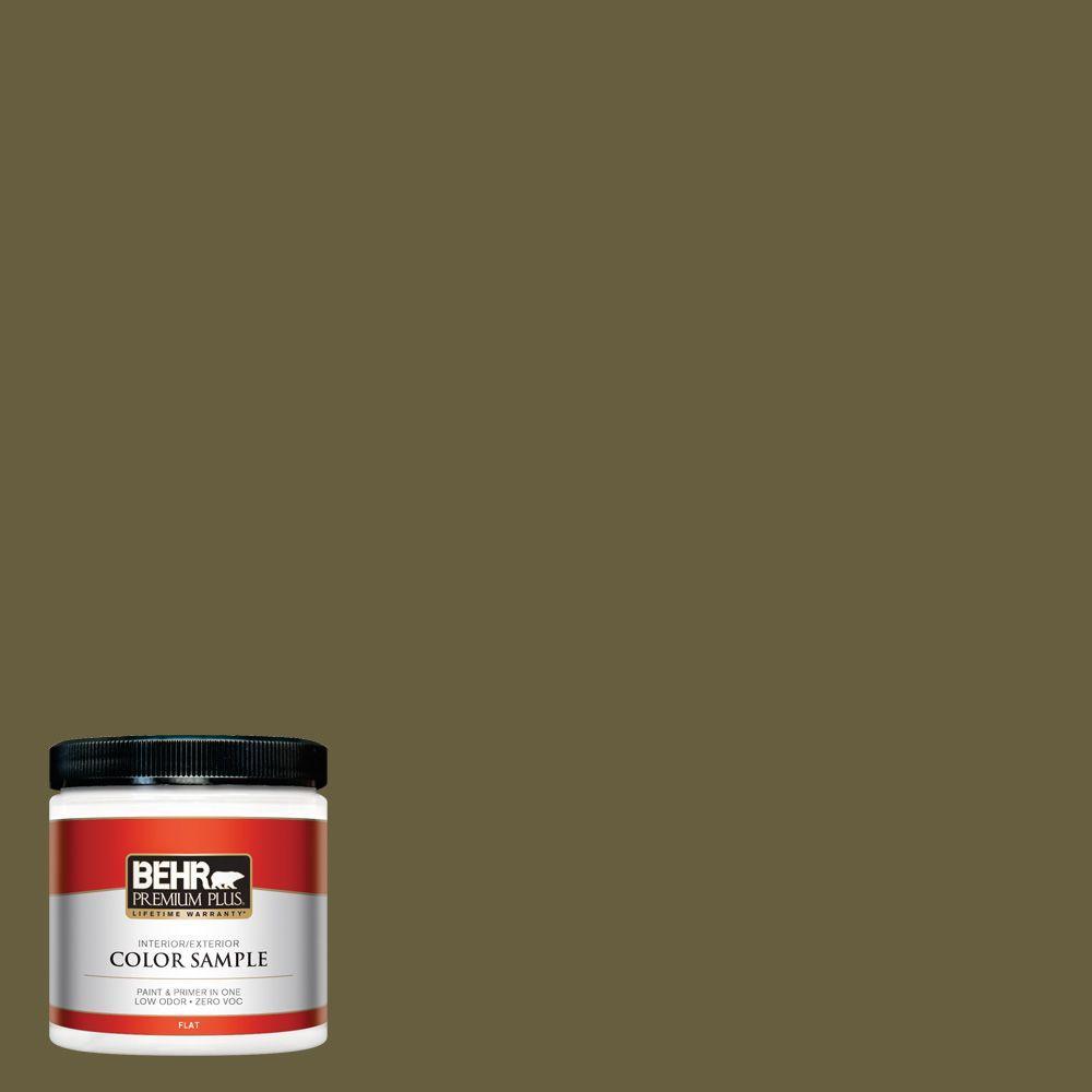 8 oz. #ICC-88 Classic Olive Zero VOC Interior/Exterior Paint Sample