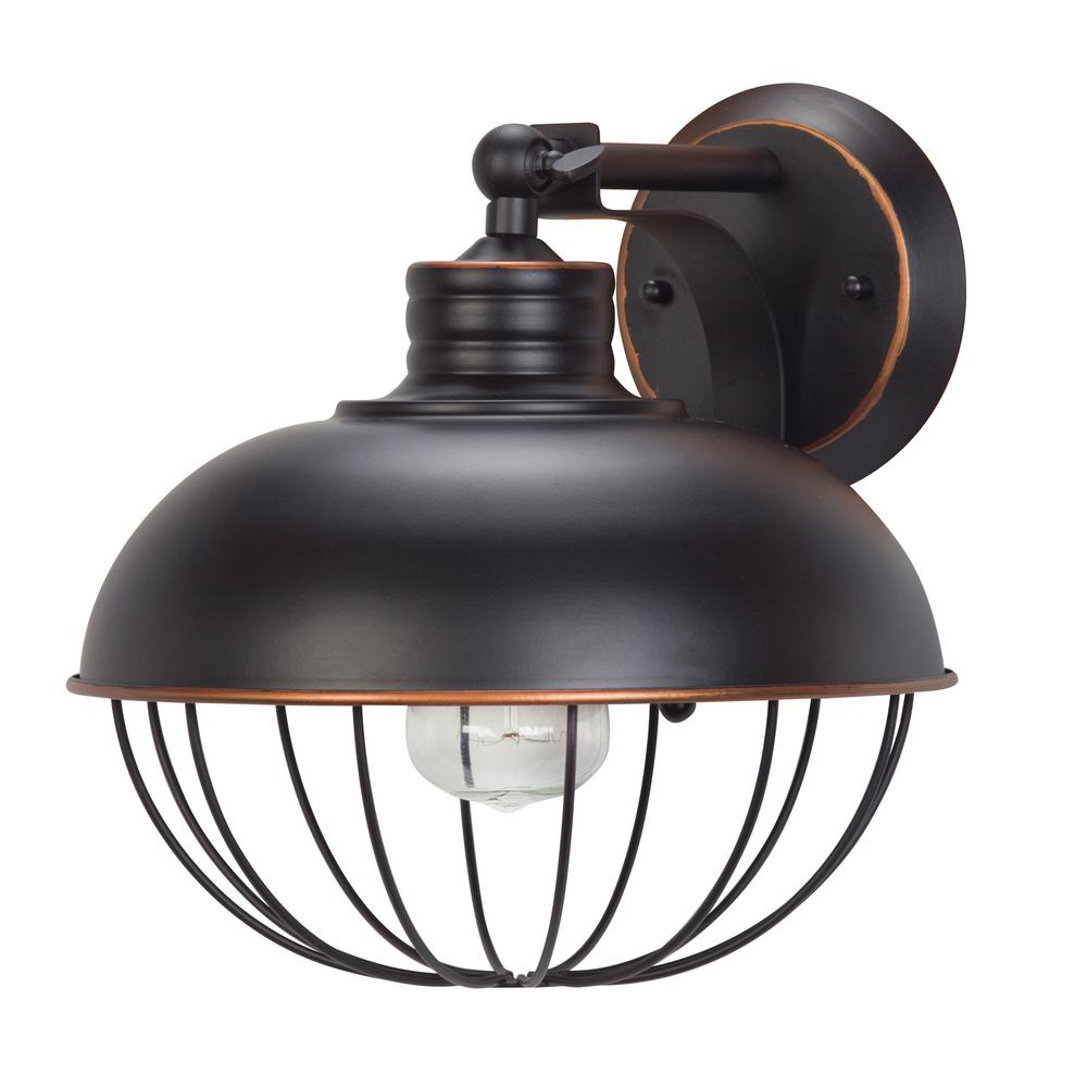 Elior 1-Light Oil Rubbed Bronze Caged Wall Sconce Light