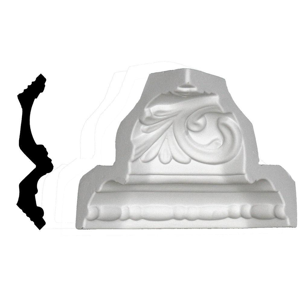 Lynea Molding Wave Collection 6 in. x 4-1/2 in. Polyurethane Crown Inside Corner
