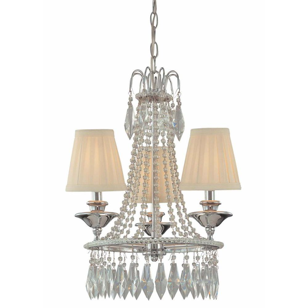 Minka lavery parsons studio 3 light brushed nickel mini chandelier 3 light chrome mini chandelier arubaitofo Image collections