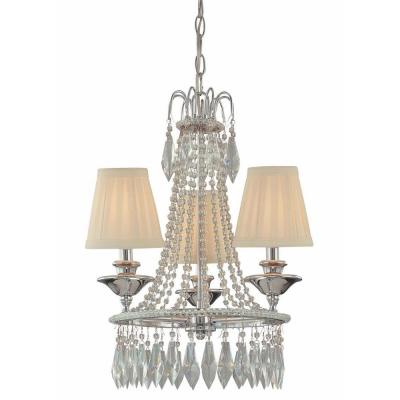 3-Light Chrome Mini Chandelier