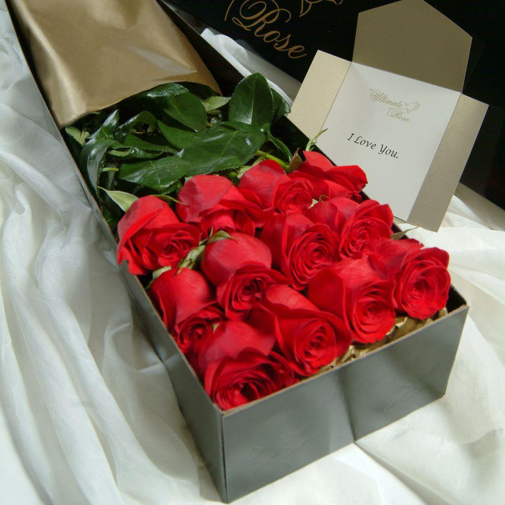 The Ultimate Bouquet Gorgeous 3 ft. Red Roses Fresh Cut Extra Long ...