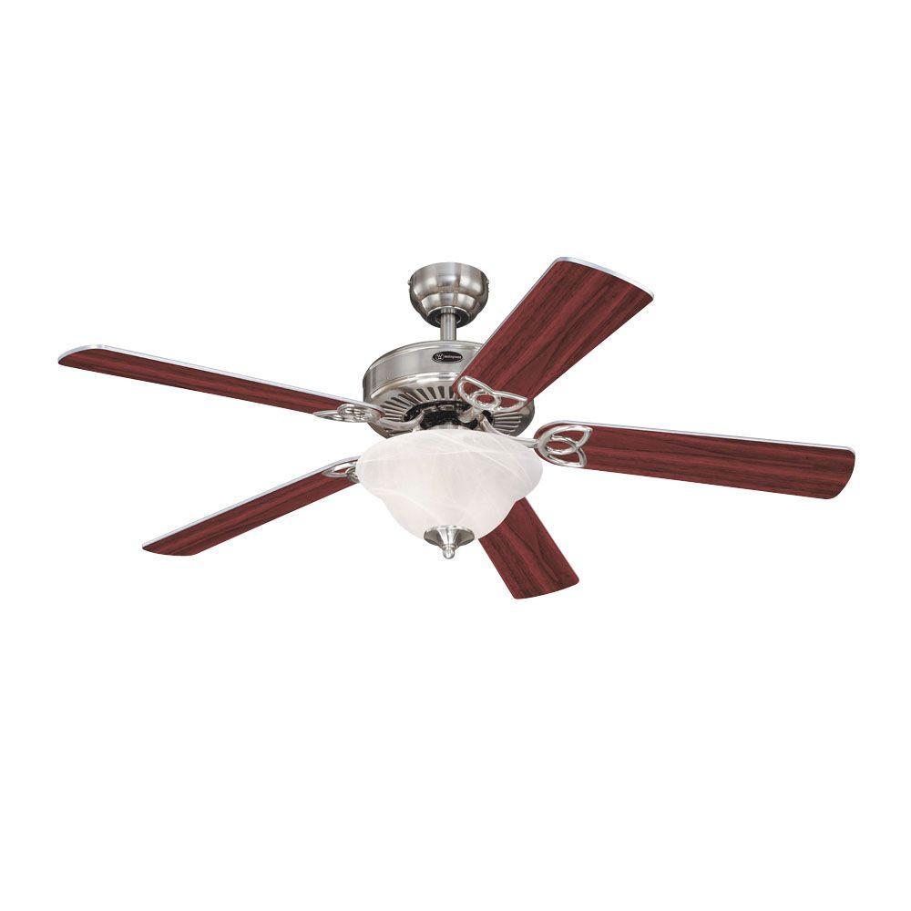 Westinghouse vintage ii 52 in brushed nickel indoor ceiling fan