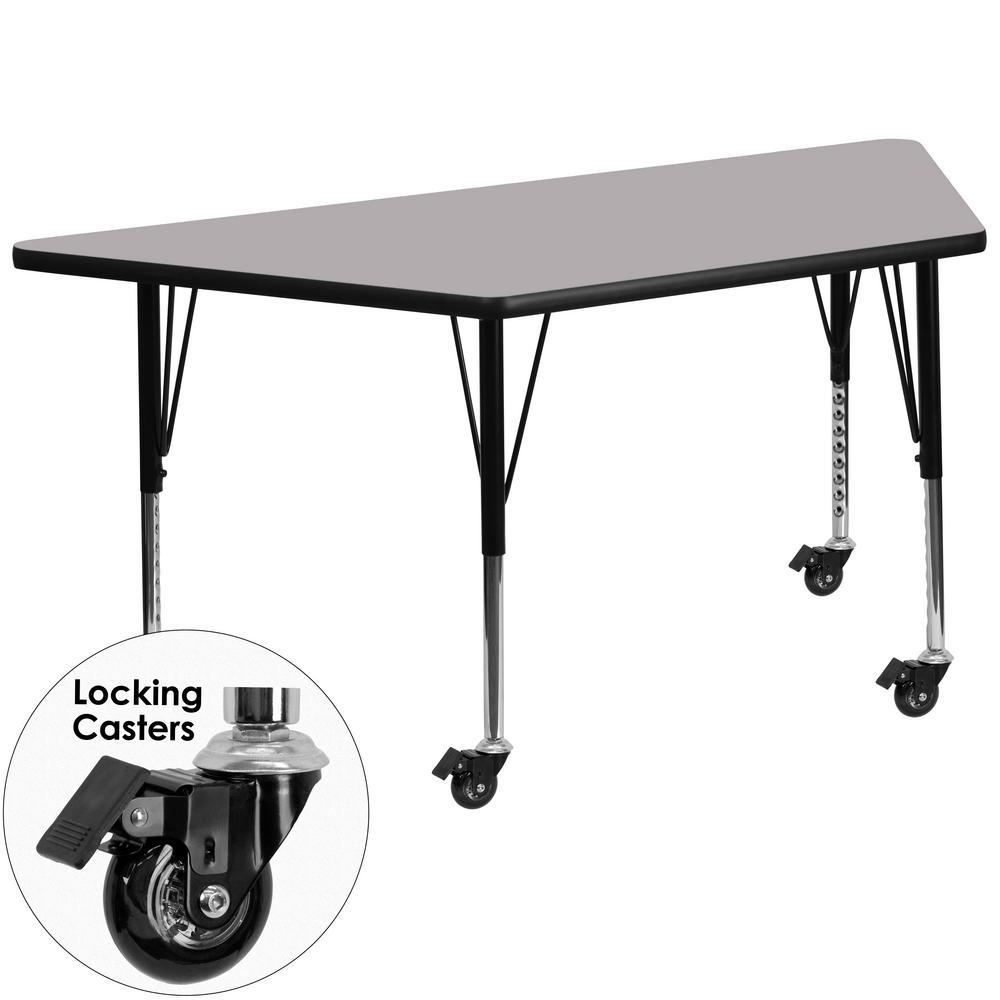 Flash Furniture Gray Kids Table XUA3060TRPGYTPC