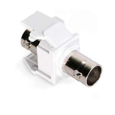 QuickPort BNC Nickel-Plated Adapter, White