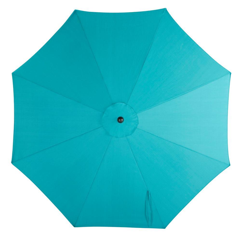 10 ft. Aluminum Market Auto Tilt Patio Umbrella in Emerald Coast