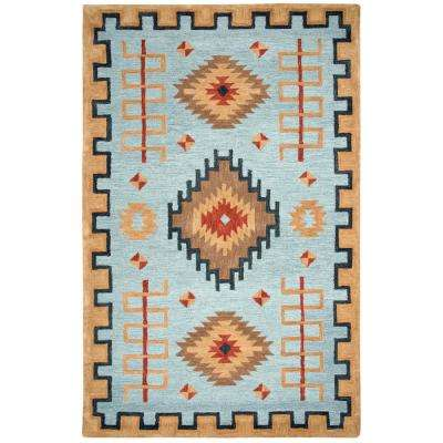 Mesa Blue Multicolor 5 ft. x 8 ft. Rectangle Area Rug