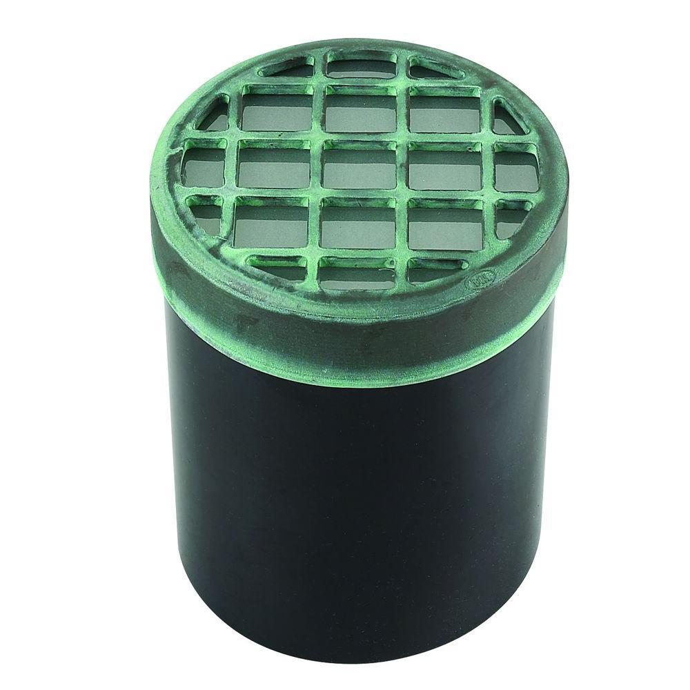 1-Light Verde Green Die Cast Brass Well Light