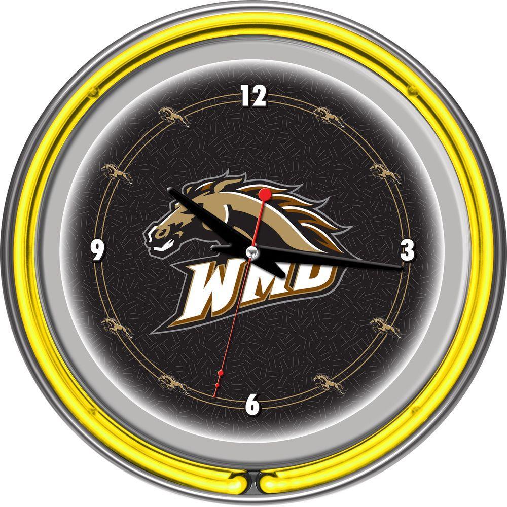 Trademark Global 14 in. Western Michigan University Neon Wall Clock